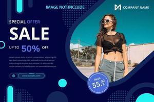Modelo de banner de promoção de venda vetor