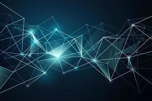 Concepção abstrata de tecnologia e rede vetor