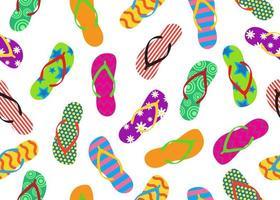 Padrão sem emenda de chinelos coloridos vetor