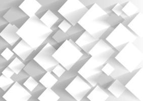 Quadrado em branco branco e cinza em tons sobreposição de fundo de papel vetor