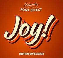 Texto 3d de alegria vetor