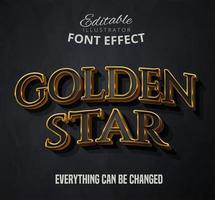 Texto estrela dourada vetor