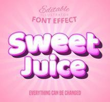 Texto de suco rosa doce