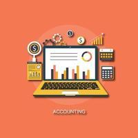 Ilustração de análise e contabilidade vetor