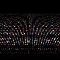 Fundo de pontos coloridos techno vetor