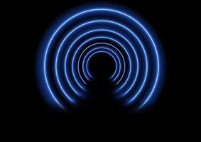 Efeito de túnel de néon