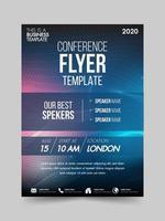 Brochura design flyer modelo tecnologia conferência