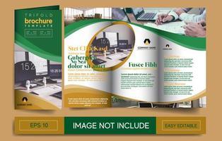 Modelo de brochura - TRIFOLD vetor