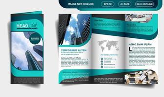 Design de brochura TRIFOLD vetor