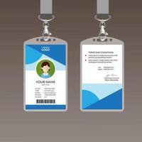 Modelo de Design de cartão de identificação elegante vetor