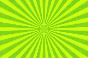 Abstrato de raios verdes vetor