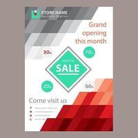 Cartaz de venda abstrato cinza vermelho vetor