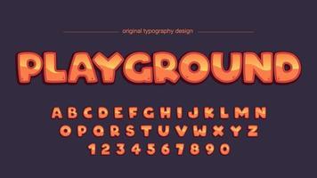 Tipografia arredondada laranja dos desenhos animados vetor
