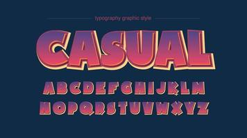 Tipografia colorida bold (realce) dos desenhos animados vetor