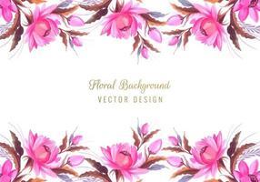 borda floral do monte vetor