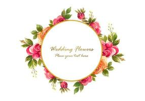 fundo decorativo floral frame vetor