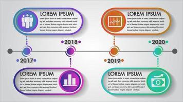 Cronograma infográficos ano design vetor