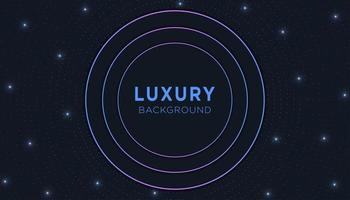 Fundo moderno de luxo circular com luz Glitter vetor