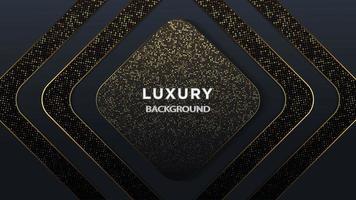 Diamante forma luxo escuro ouro Glitter camada fundo vetor