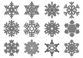 Pacote de vetores de floco de neve