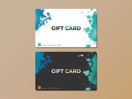 Conjunto de modelo de respingo de meio-tom de presente ou cartão de visita vetor