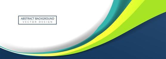 Projeto colorido abstrato da bandeira da onda do negócio vetor