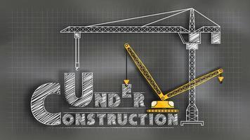 Em construção lousa vetor