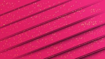 Papel rosa abstrato cortado estilo de fundo