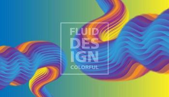 Design fluido colorido moderno vetor
