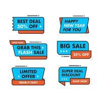 Definir coleção Design de modelo de banner de venda