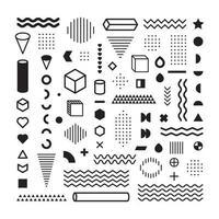 Coleção de elementos abstratos geométricos vetor