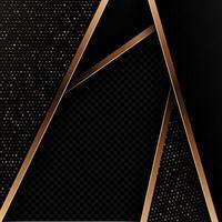 Abstrato com design preto e dourado vetor