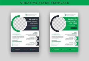 Design de modelo de panfleto de conferência de negócios vetor