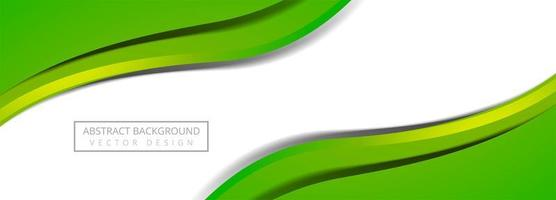 Banner de onda fluida colorido moderno no fundo branco vetor