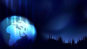 Conceito abstrato, esfera de mapa do mundo