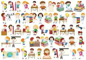 Conjunto de crianças diferentes vetor