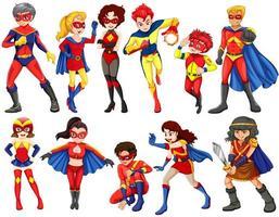 Um grupo de heróis vetor