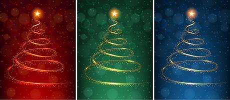 Um conjunto de cartões de Natal mágica vetor