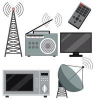 Conjunto de dispositivos de tecnologia vetor