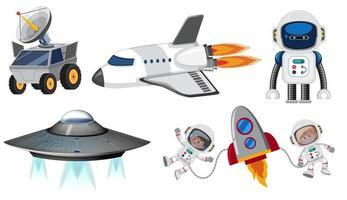 Conjunto de transporte espacial vetor