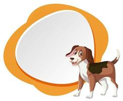 Cachorro Beagle no banner em branco vetor