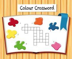 Modelo de jogo de palavras cruzadas de cor vetor