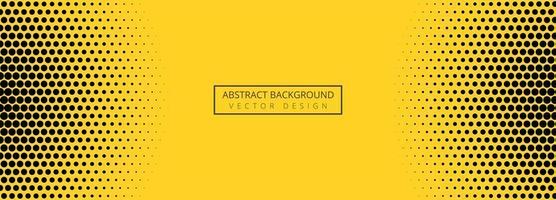 Abstrato amarelo e preto padrão de banner design vetor