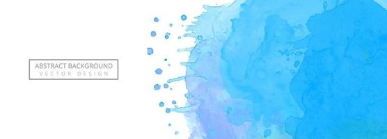 Fundo de banner moderno respingo aquarela azul vetor