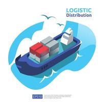 conceito de distribuição logística vetor