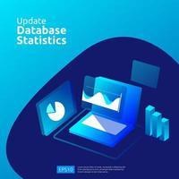 Atualizar o conceito de estatísticas do banco de dados vetor