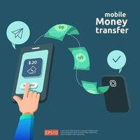 Conceito de transferência de dinheiro