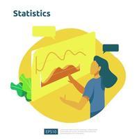 conceito de análise digital para pesquisa de mercado de negócios