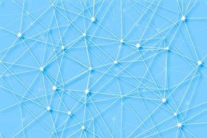 Fundo de tecnologia digital de polígono de linhas de conexão vetor