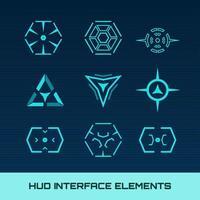 Elementos da interface Hud vetor